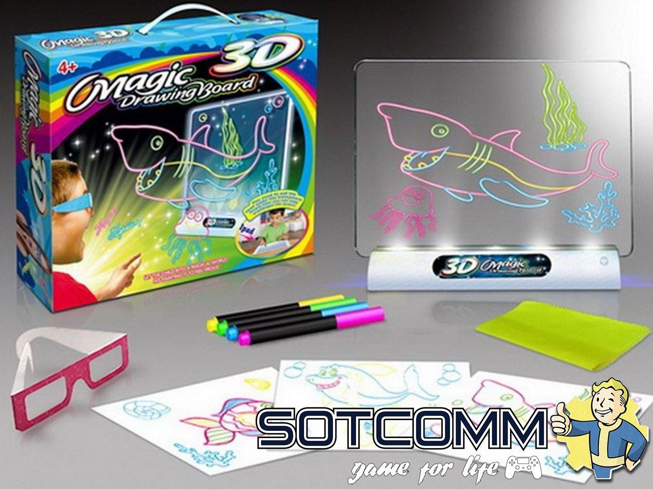 Волшебная доска для рисования с 3D Magic Drawing Board