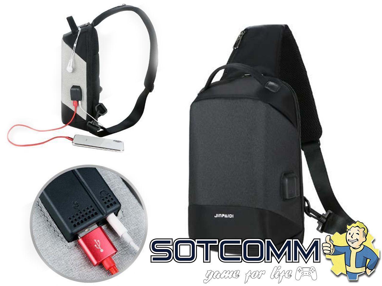Мини городской рюкзак-антивор с USB и 3.5мм jack купить в Челябинске
