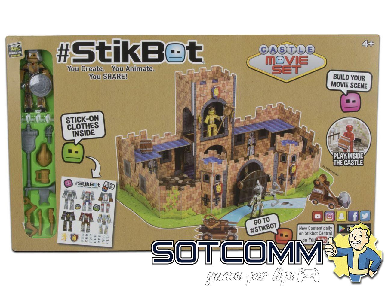 StikBot анимационная студия «Крепость» Castle Movie Set