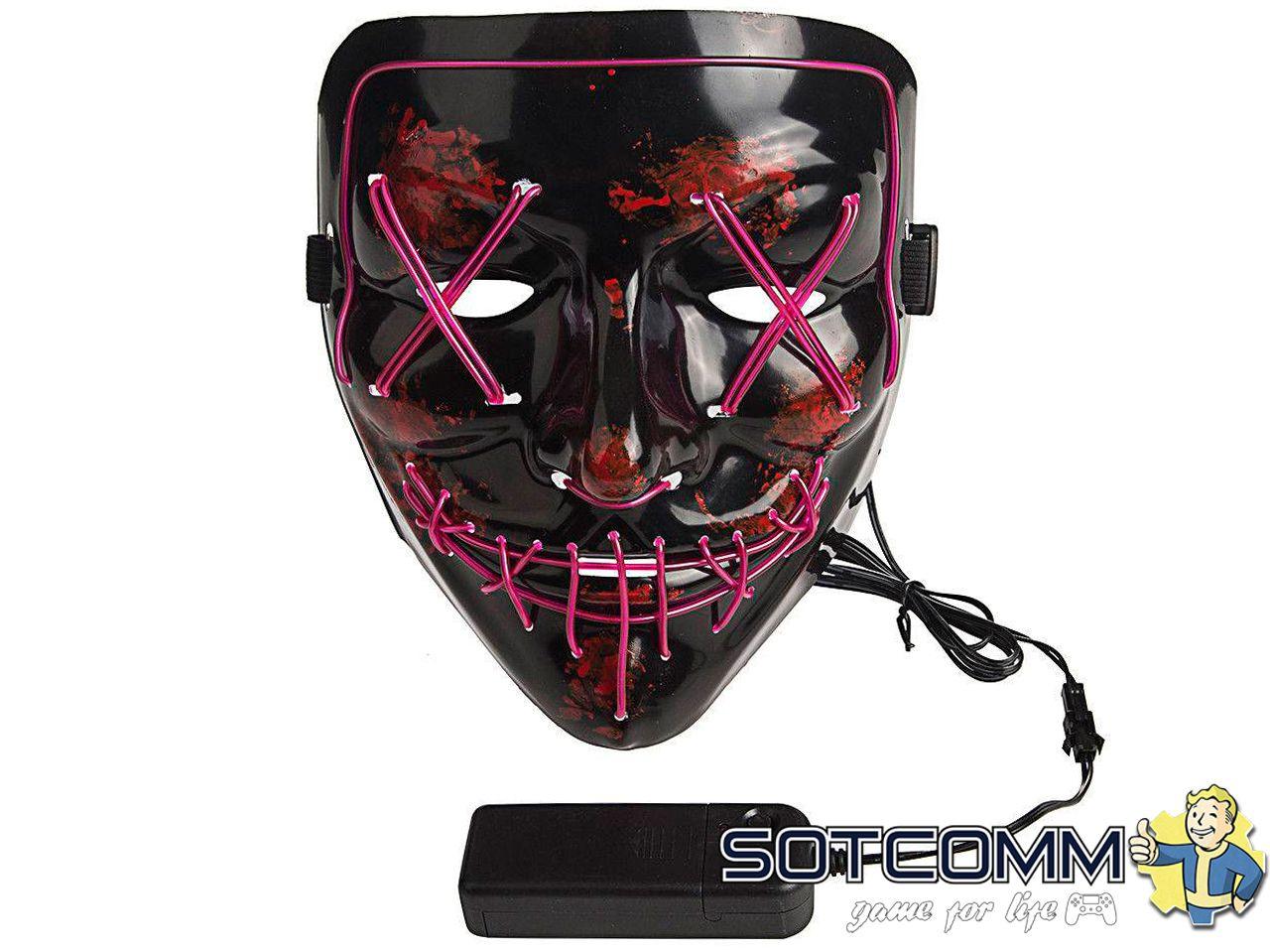 Светящиеся неоновые маски Судная ночь