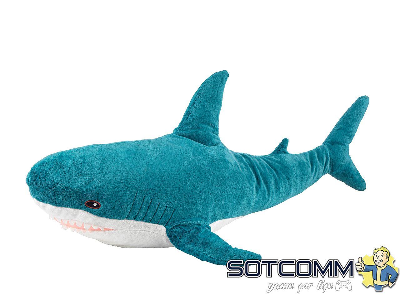 Плюшевая акула Блохэй из Икеи 100 см
