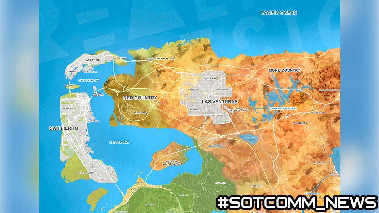 Полная карта GTA 6 ГТА 6 Grand Theft Auto 6 карта GTA VI