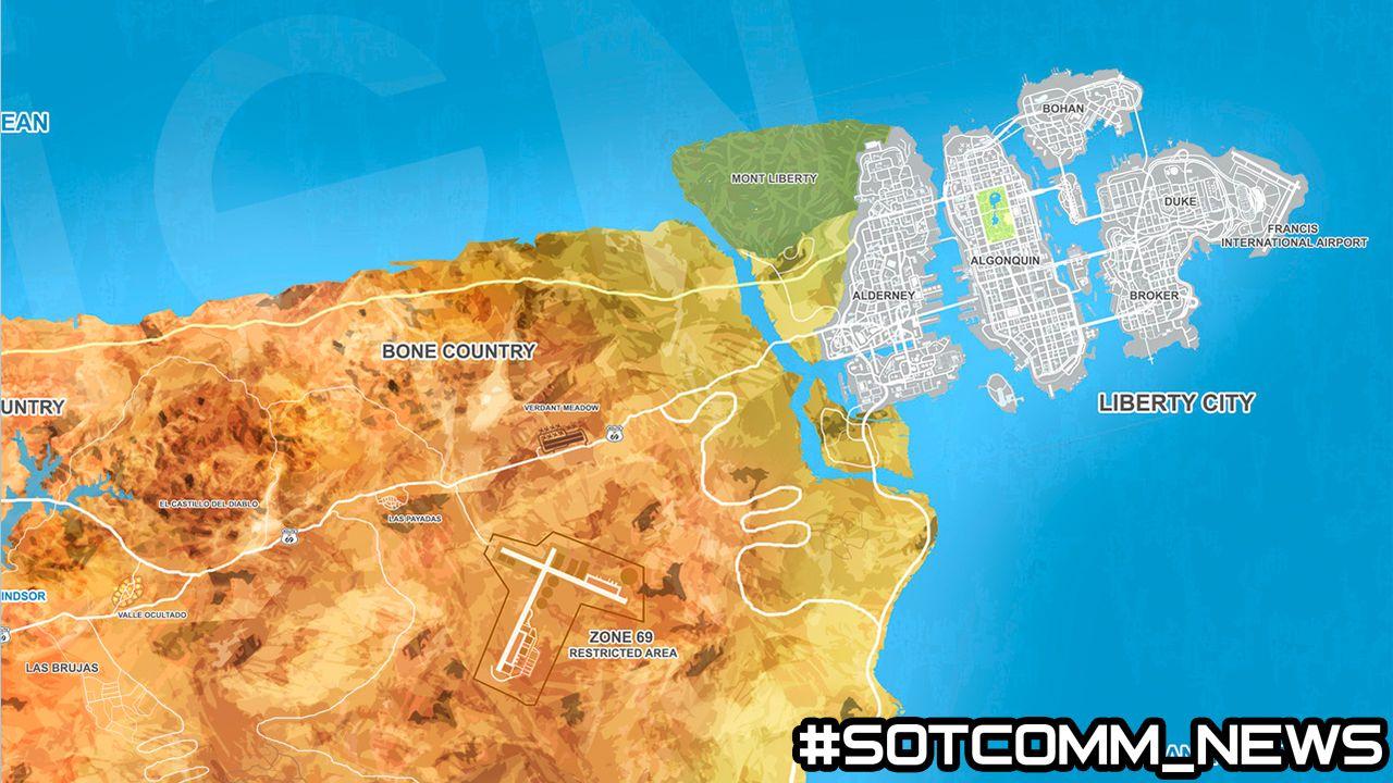 карта GTA 6 ГТА 6 Grand Theft Auto 6 карта map GTA VI