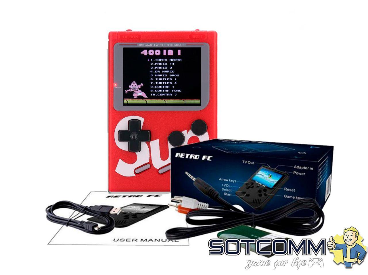 Портативная игровая консоль Sup Game box 400 in 1 8 bit