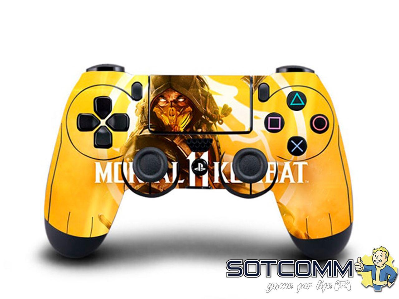 Виниловая наклейка MK11 для Dualshock 4