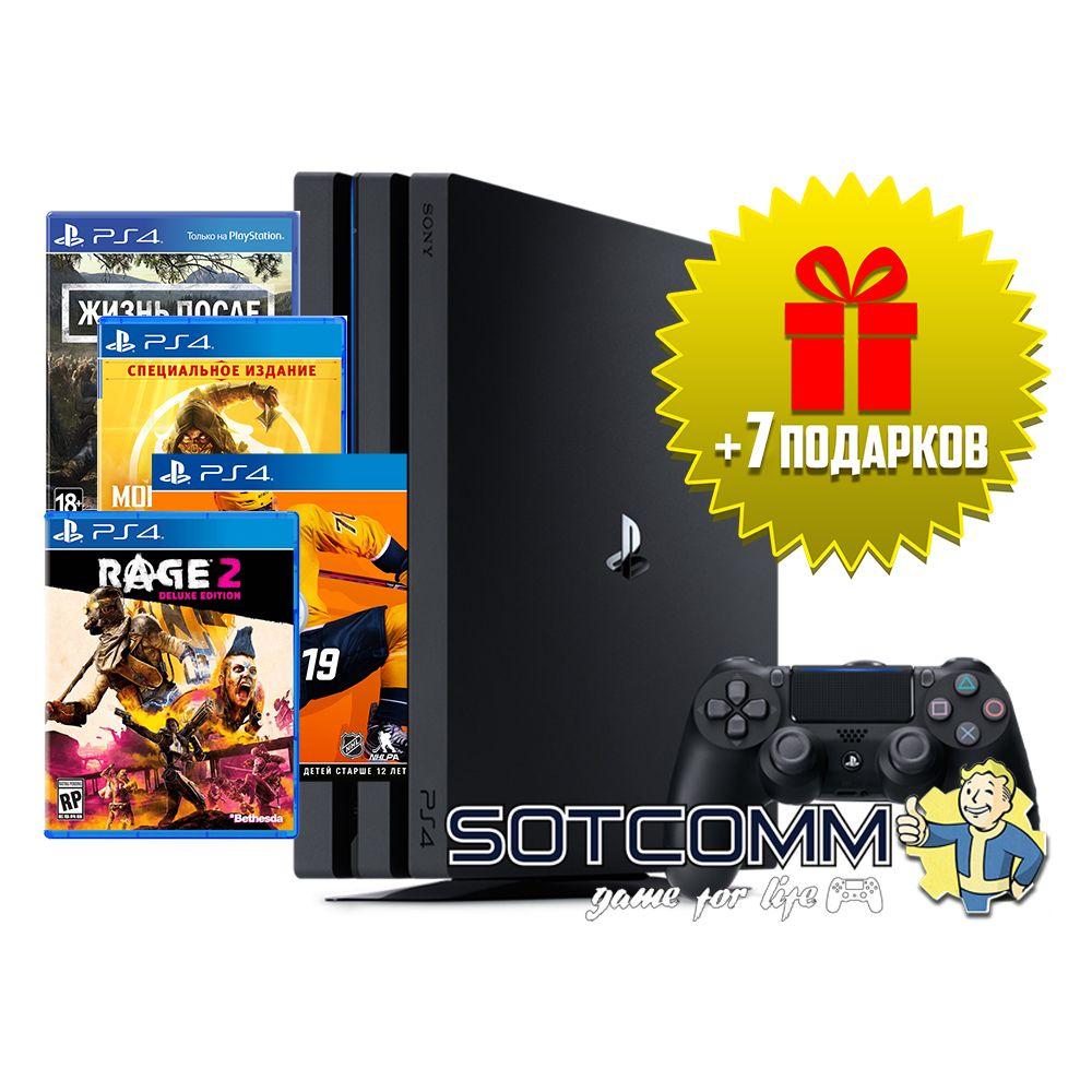 Playstation 4 Pro 1Tb + Диск с игрой