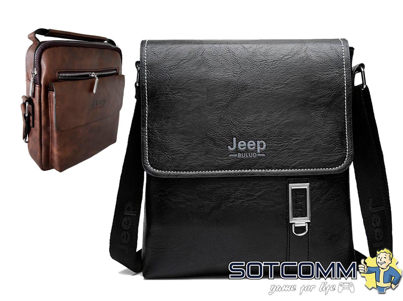 Кожаная сумка через плечо Jeep buluo