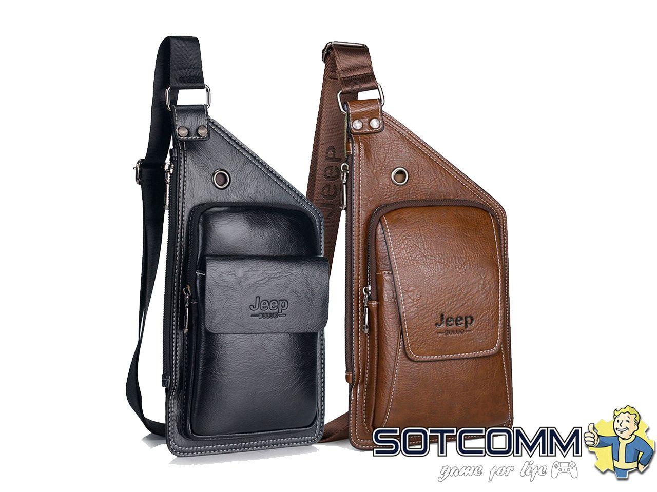 Кожаная сумка-рюкзак Jeep buluo