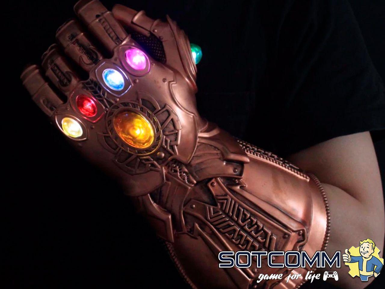 Перчатка бесконечности Таноса с эффектами