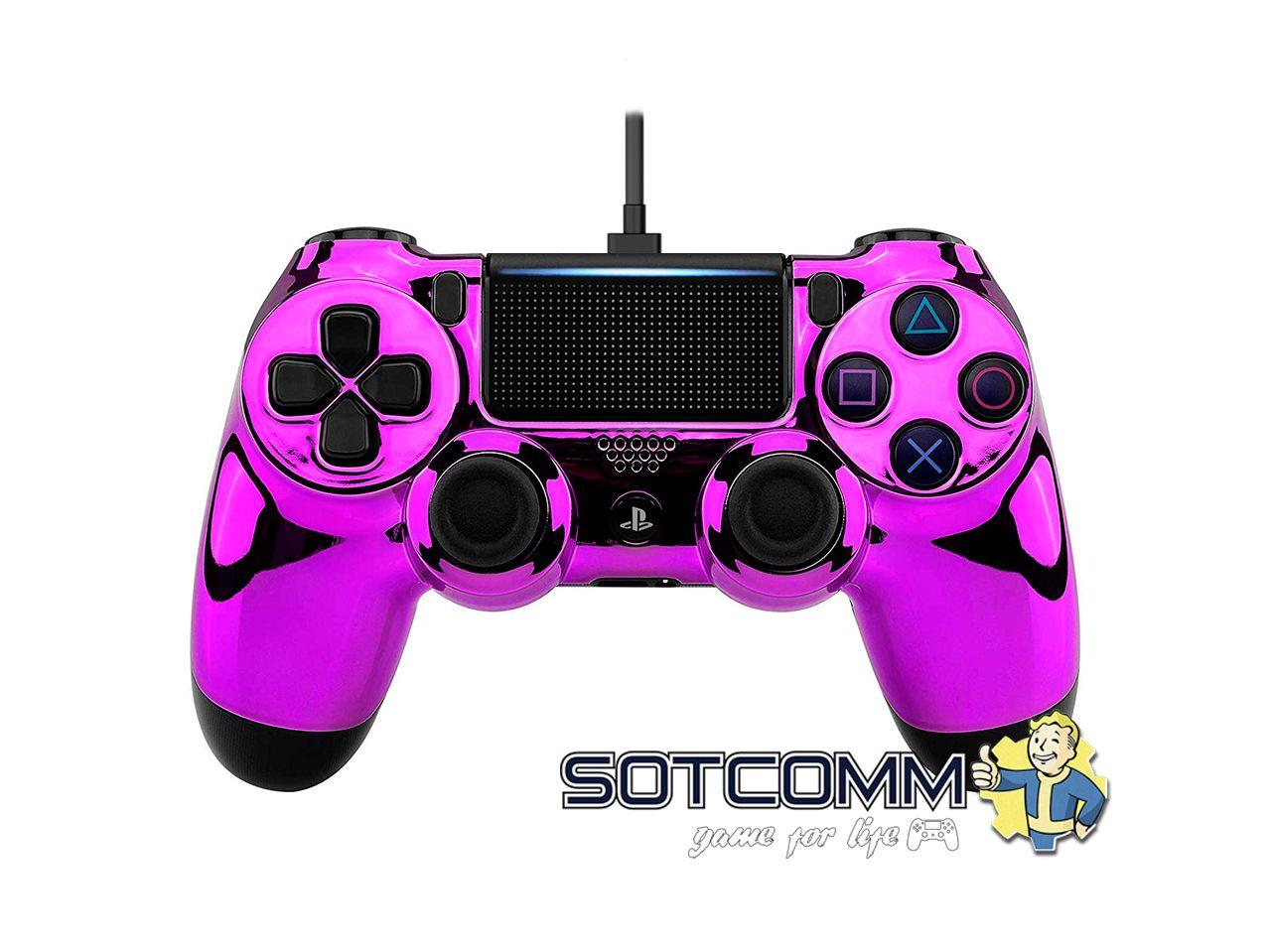 Проводной геймпад PS4 Dualshock 4 Chrome Purple