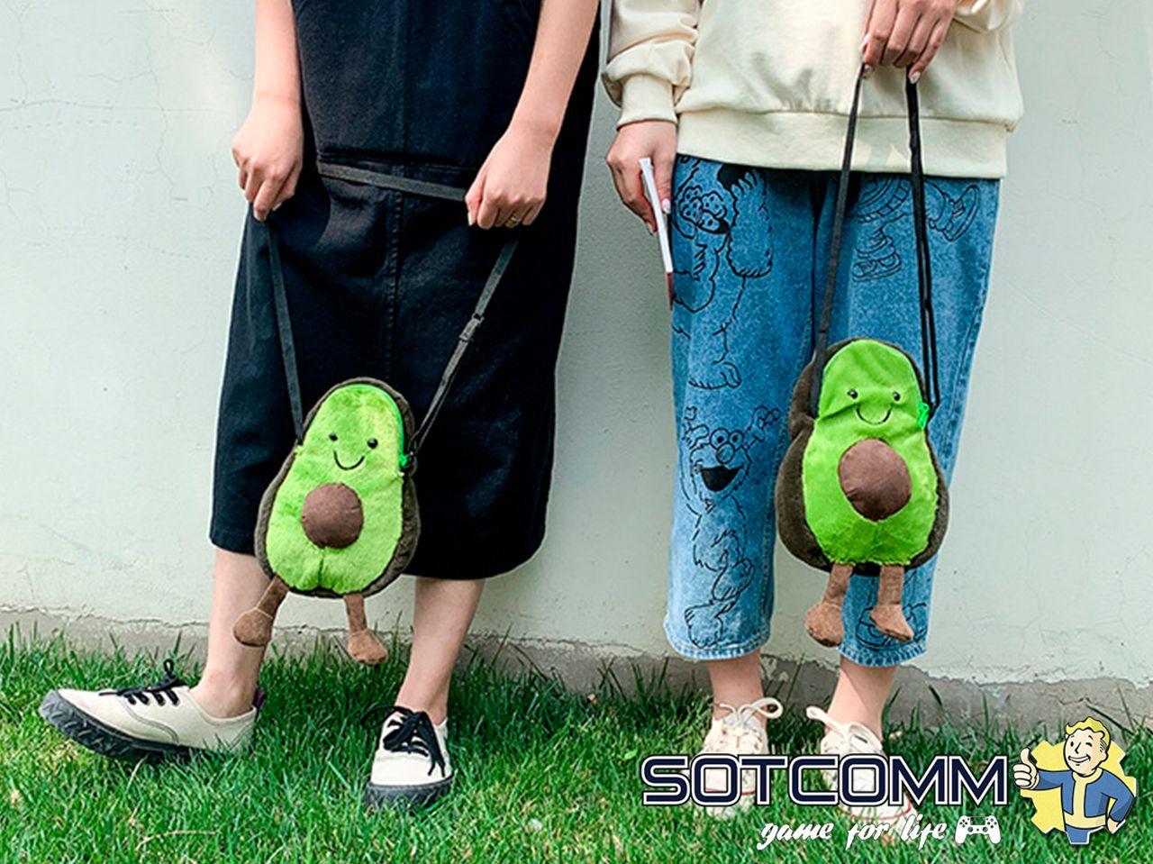 Плюшевый авокадо мини сумочка