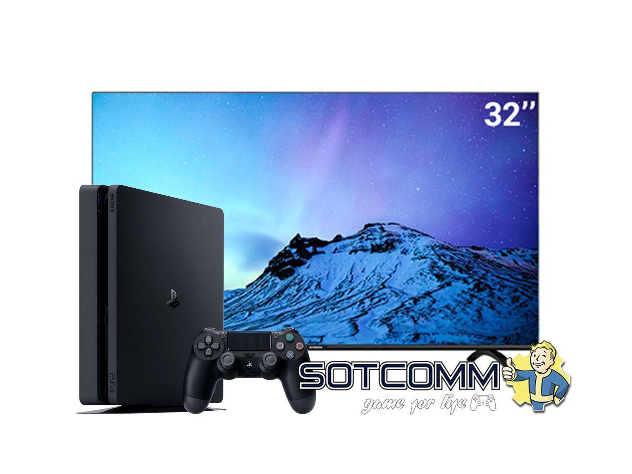 Игровой комплект PS4 Slim 500 Gb + TV Skyworth 32E20 FULL HD