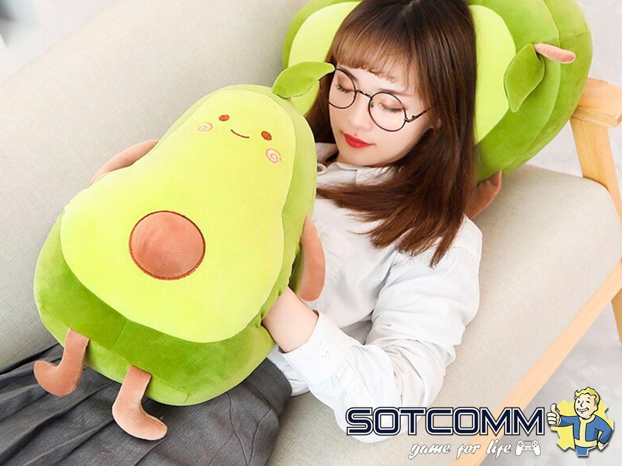 Мягкая игрушка-грелка авокадо