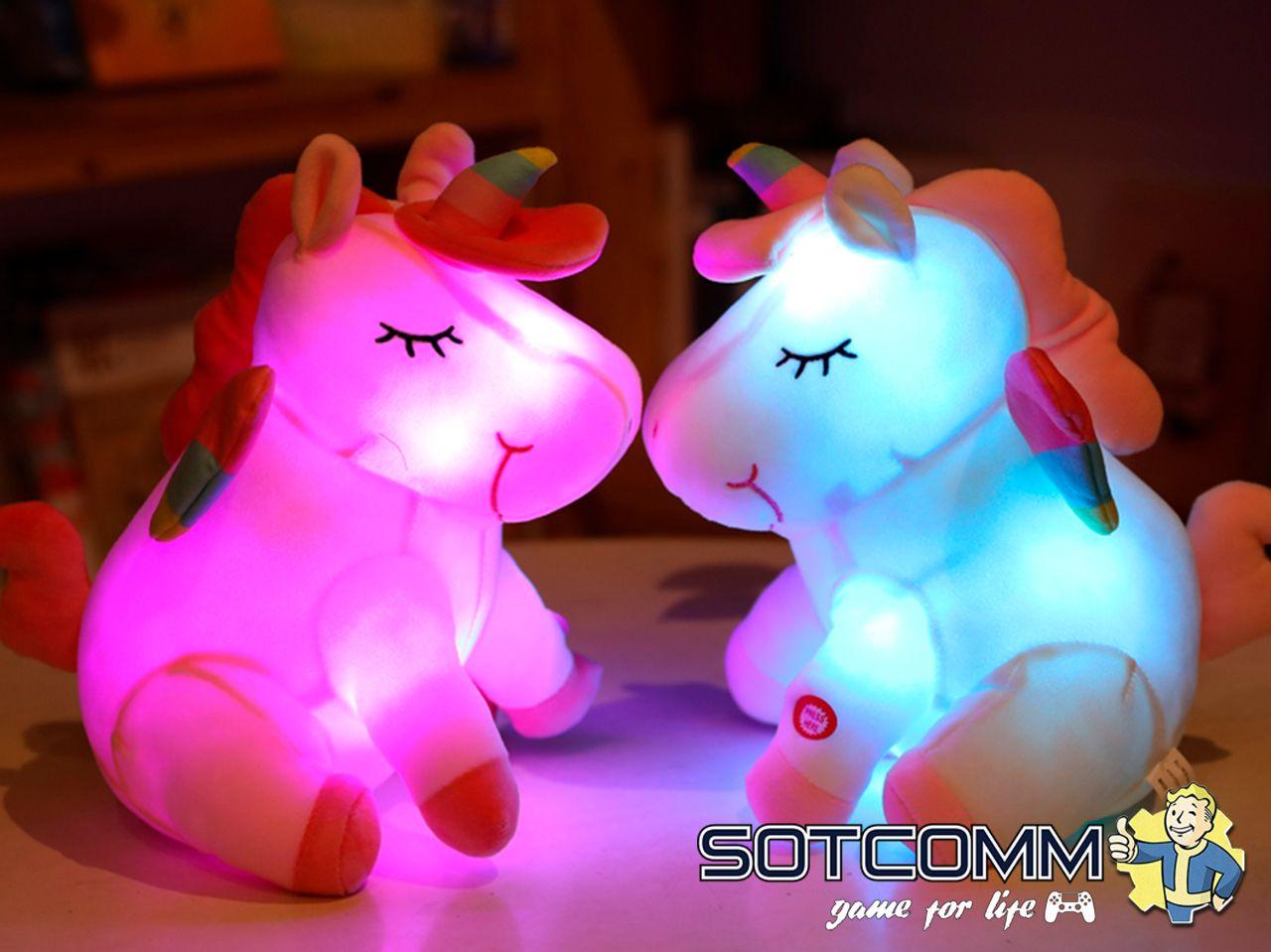 Плюшевый Единорог-светильник