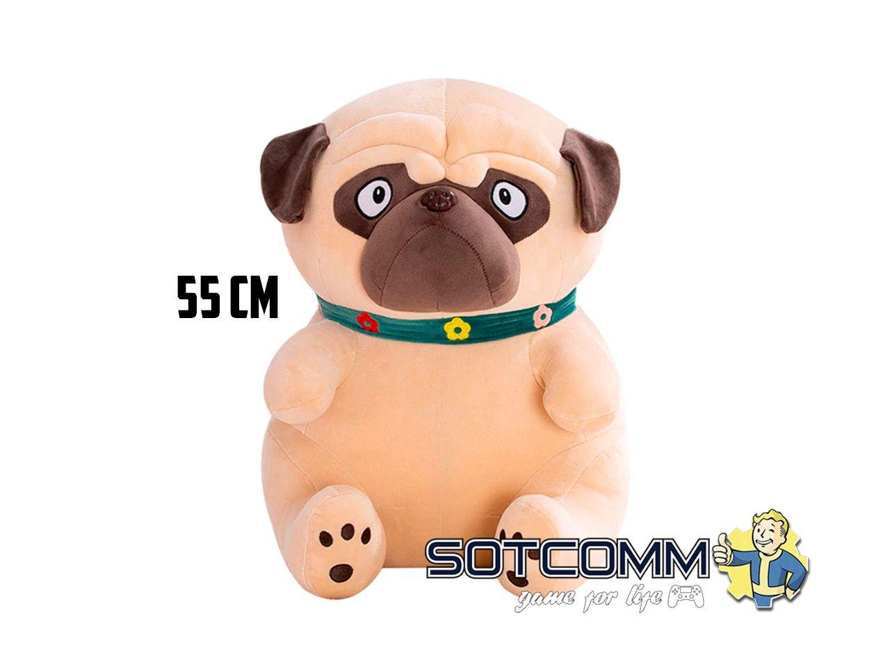 Плюшевый мопс 55 см