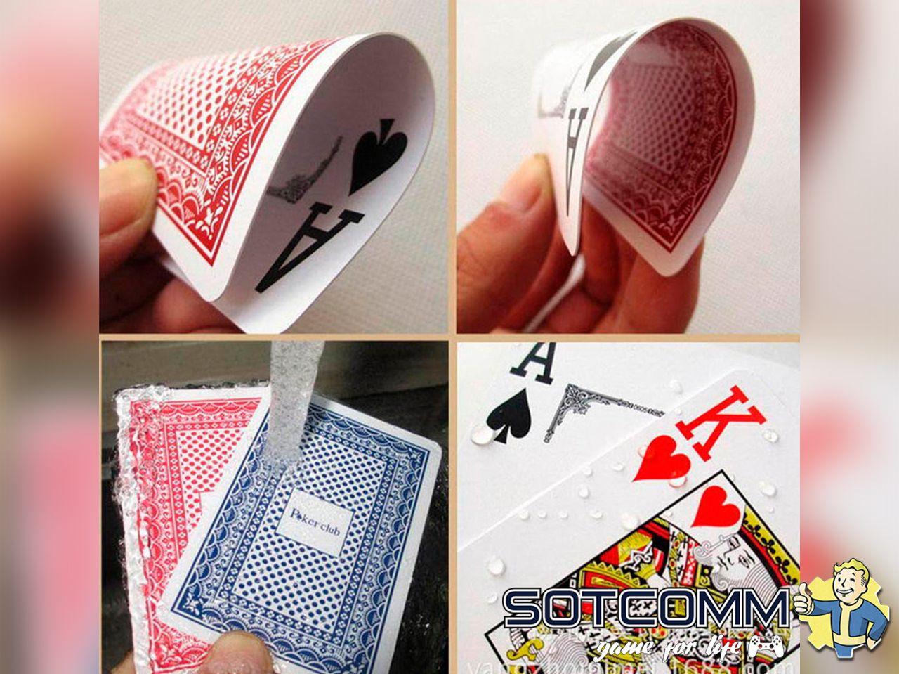 Пластиковые, игральные карты Poker Club