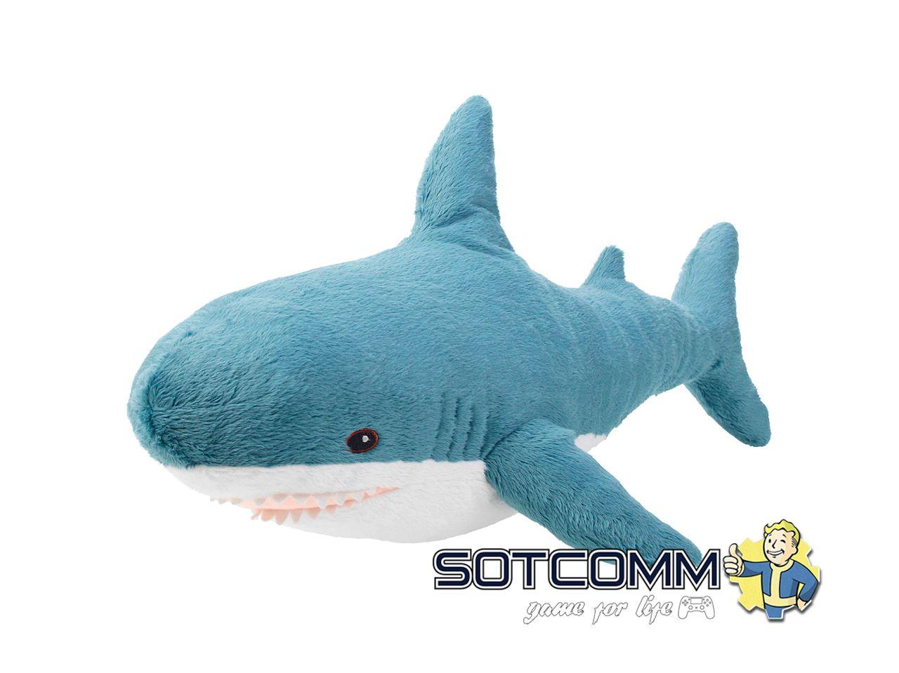 Плюшевая акула Блохэй из Икеи 60 см