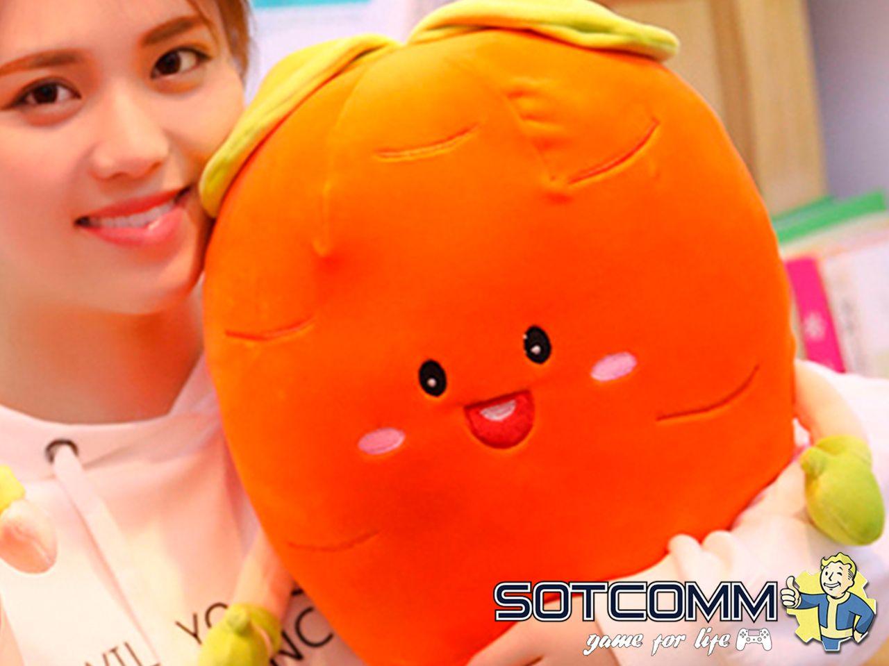 Плюшевая Морковка подушка-игрушка