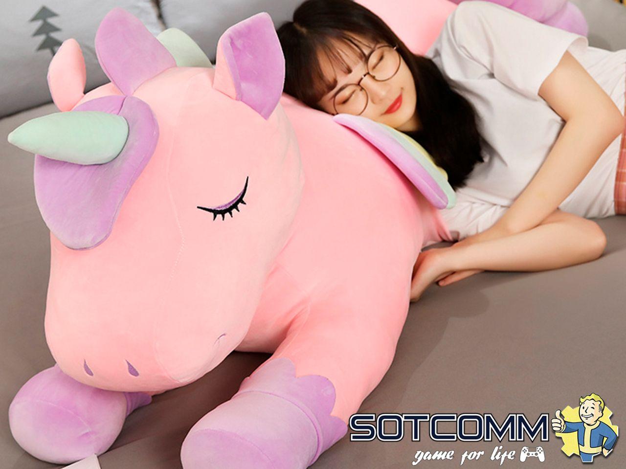 Плюшевый Единорог игрушка-подушка 120 см