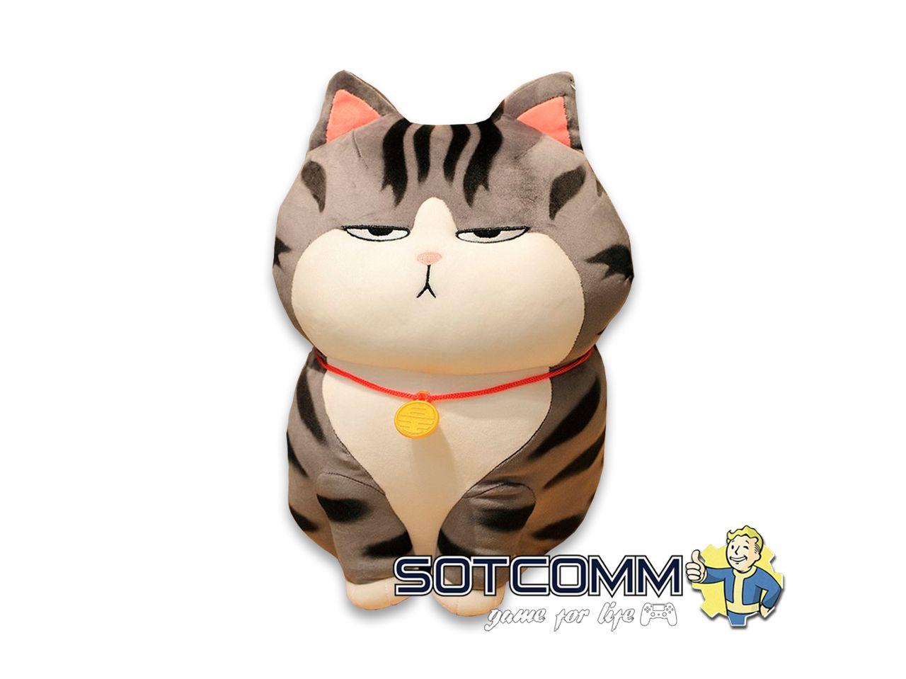 Плюшевый кот-толстячок