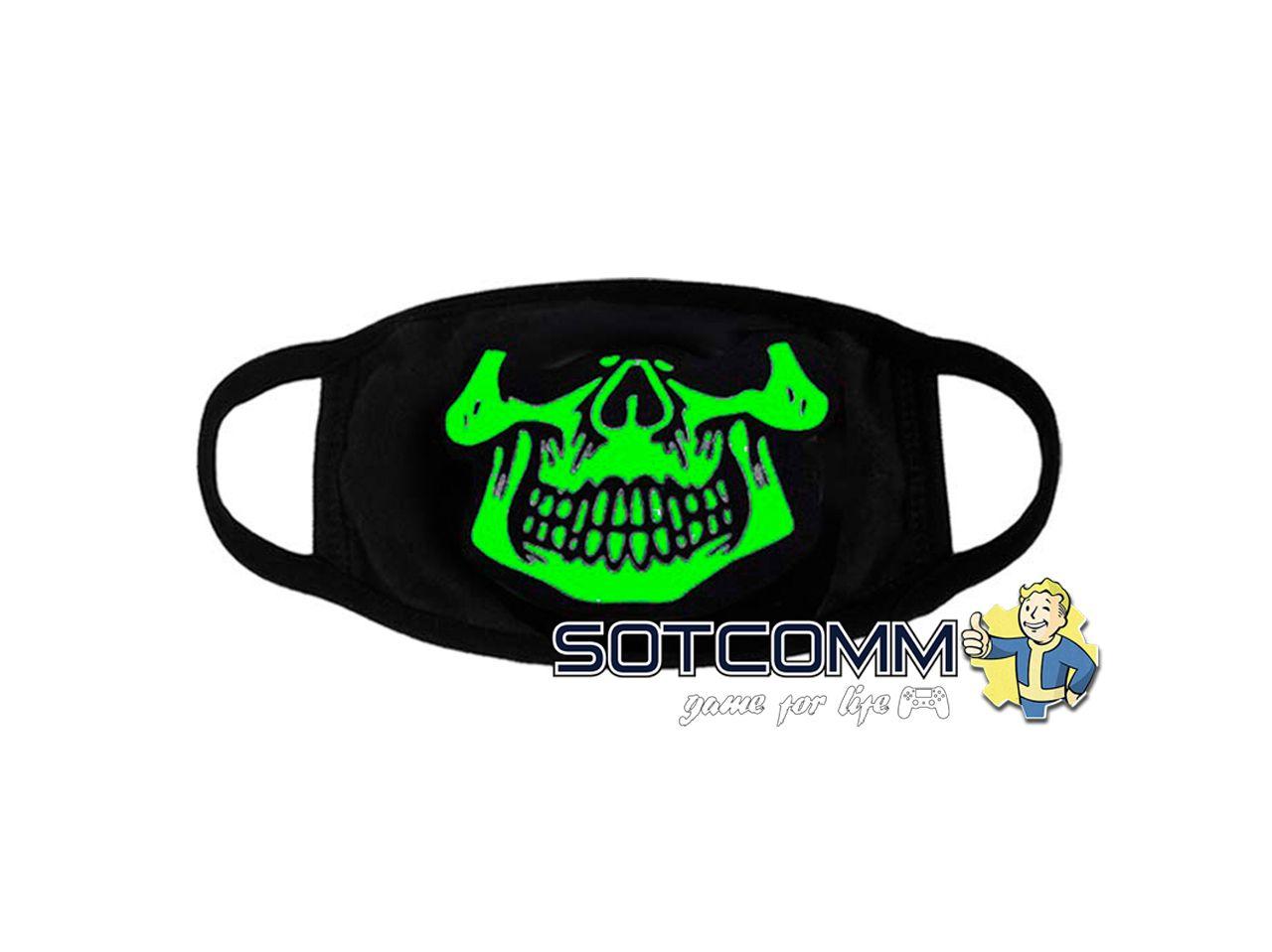 Хайповые маски для лица светящиеся с принтом