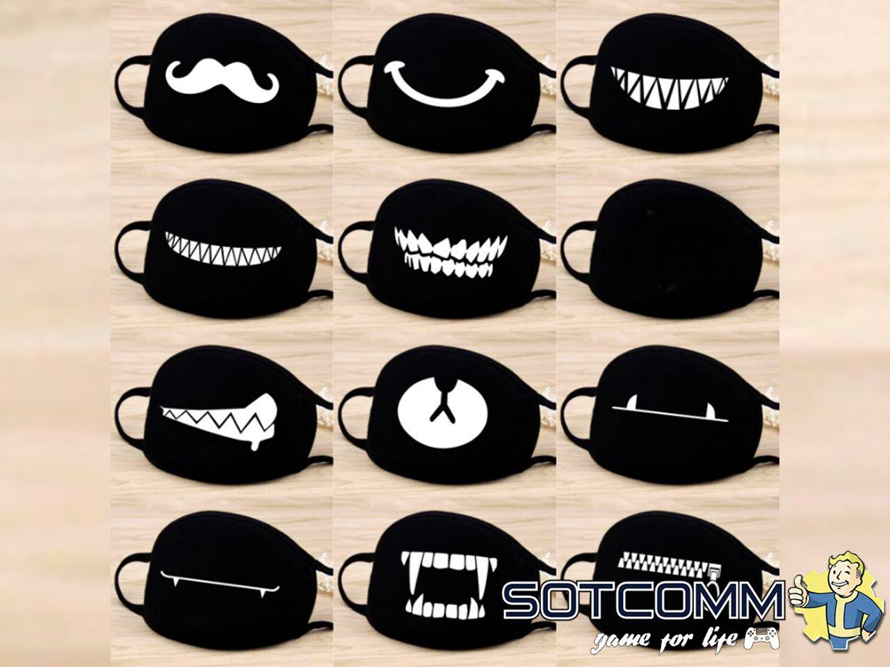 Хайповые маски для лица с принтом