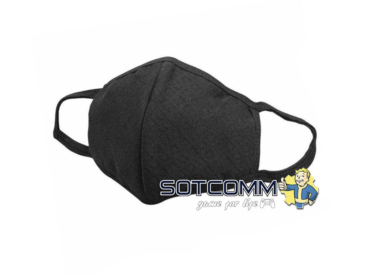 Угольная, защитная маска для лица