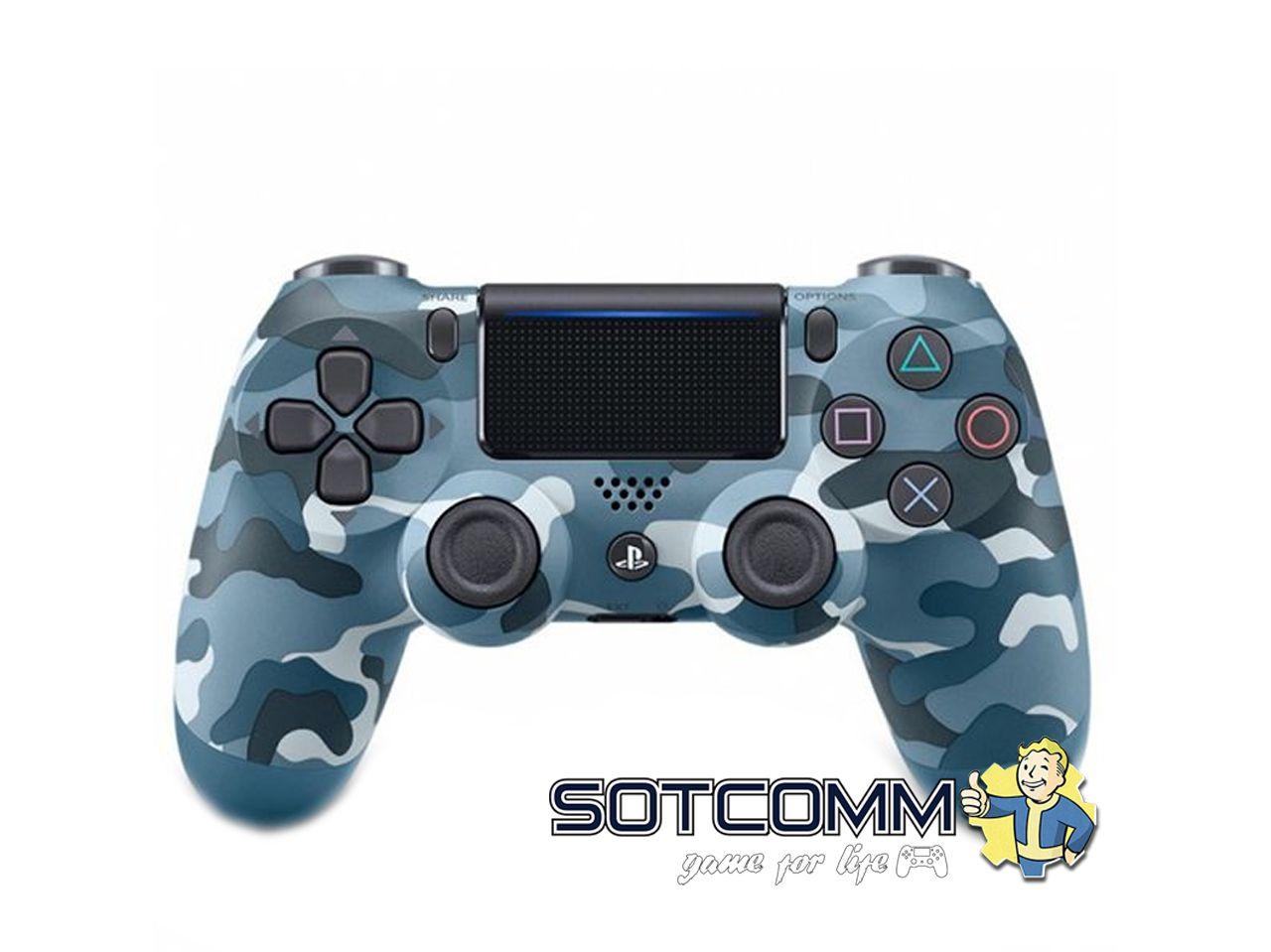 Геймпад для PS4 DS4 V2 Replica (Синий камуфляж)