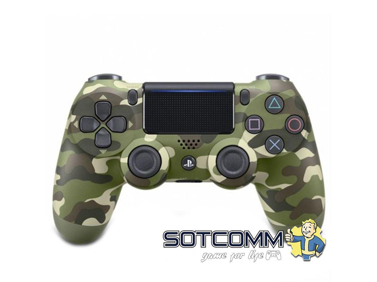 Геймпад для PS4 DS4 V2 Replica (Зеленый камуфляж)