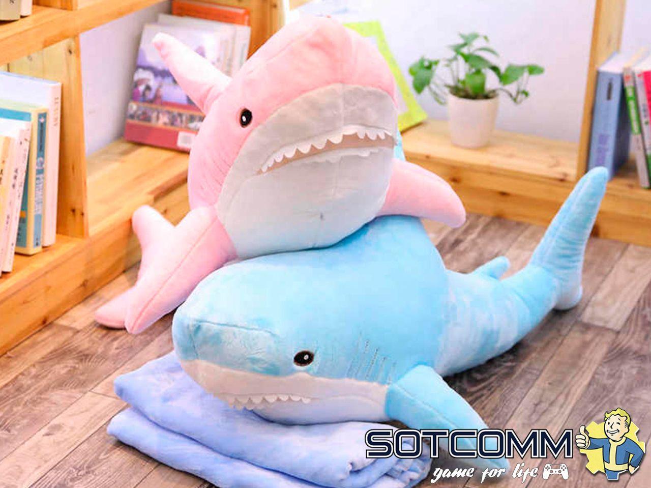 Розовая акула из Икеи 100 см