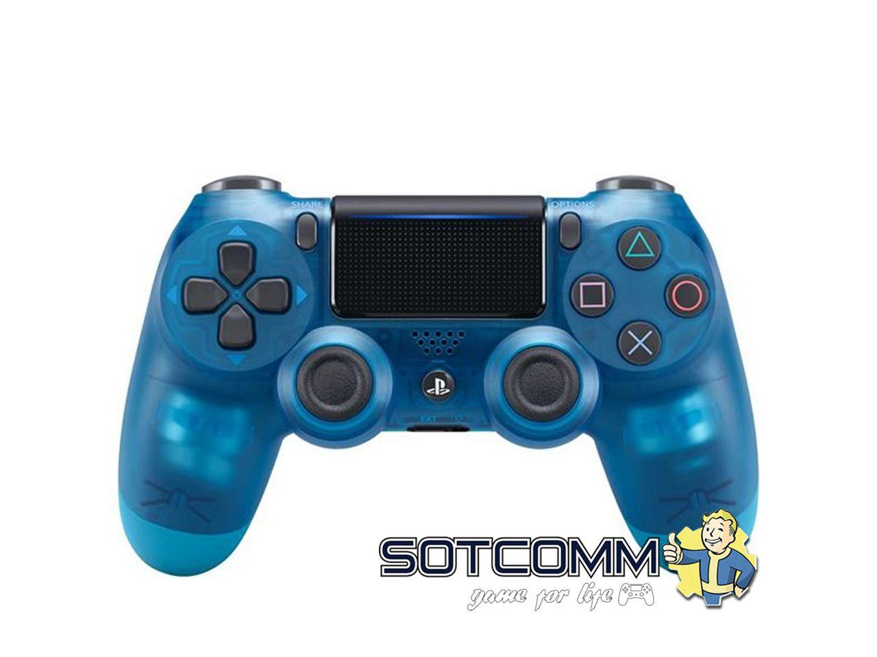 Геймпад для PS4 DS4 V2 Replica (Прозрачный-синий)