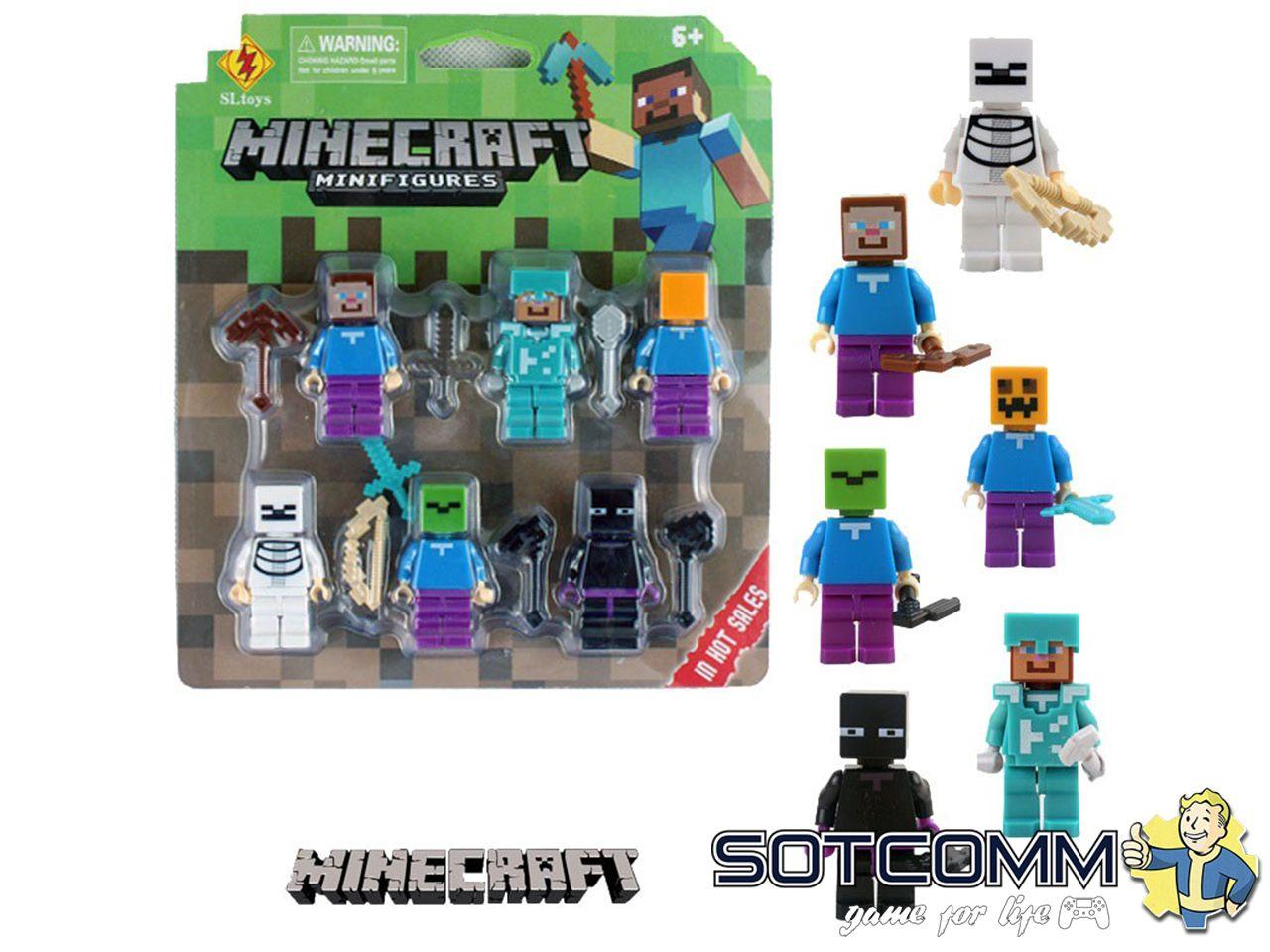 Набор фигурок Minecraft 6 штук