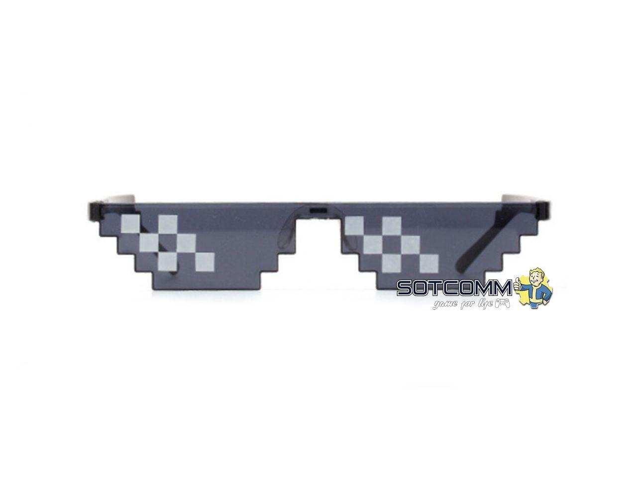 Пиксельные очки Minecraft (Черные)