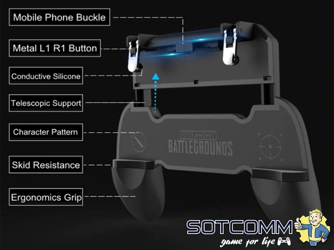 Геймпад (джойстик) для смартфона Mobile Game Controller W10