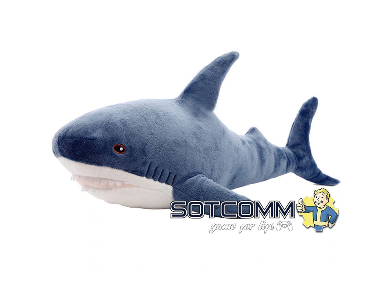 Плюшевая акула Блохэй из Икеи 40 см