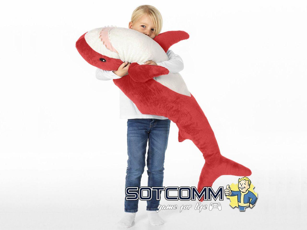 Плюшевая акула из Икеи 100 см (Красная)