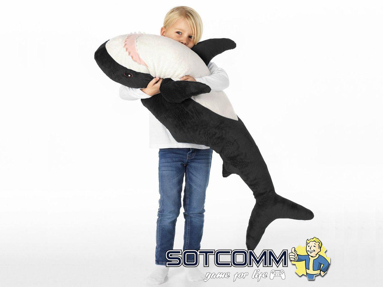 Плюшевая акула из Икеи 100 см (Черная)