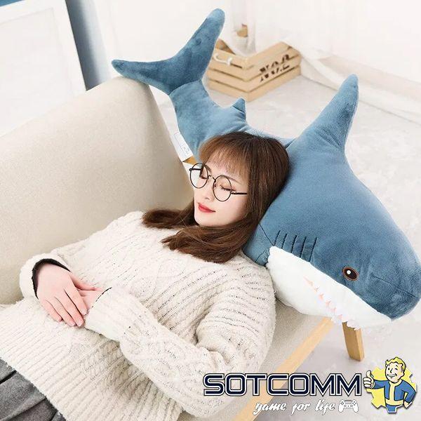 Плюшевая акула из Икеи 130 см