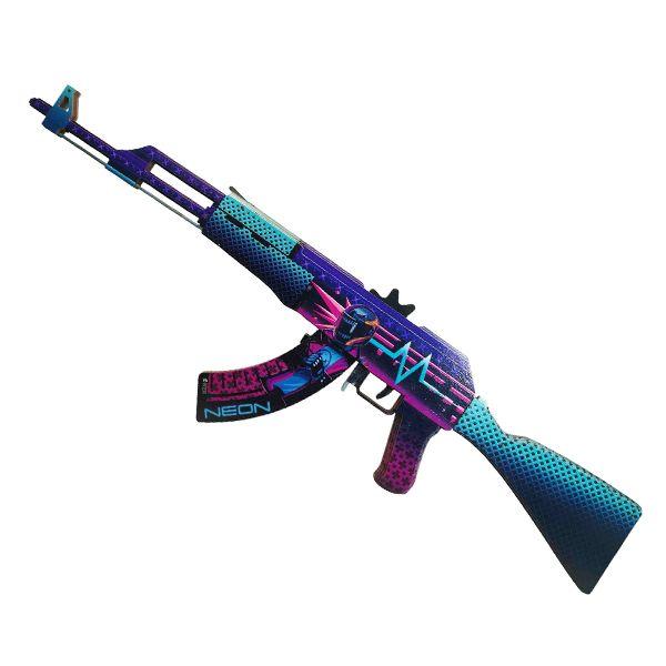 Деревянный автомат CS:GO | AK 47 Неоновый гонщик