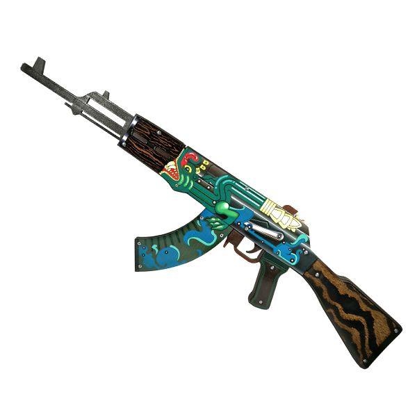 Деревянный автомат CS:GO | AK 47 Огненный змей