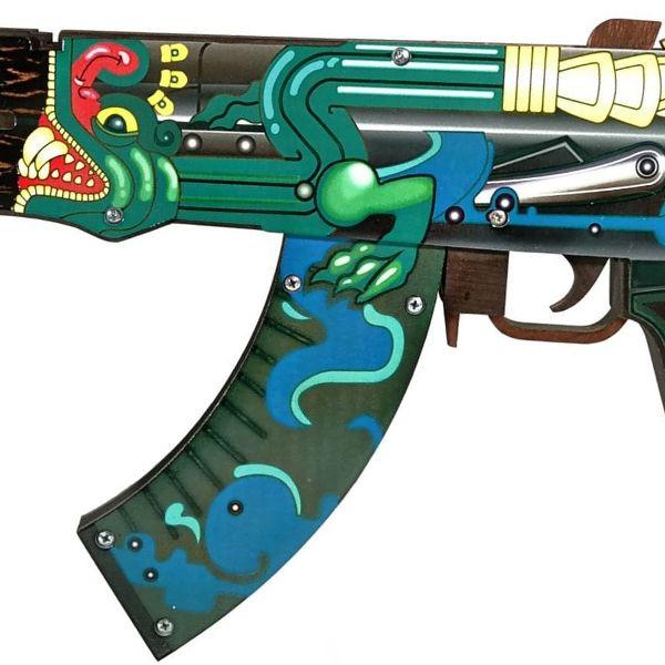 Деревянный автомат CS:GO   AK 47 Огненный змей