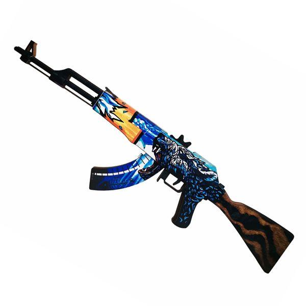 Деревянный автомат CS:GO | AK 47 Polar bear