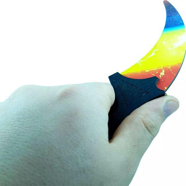 Деревянный нож керамбит CS:GO Мраморный градиент