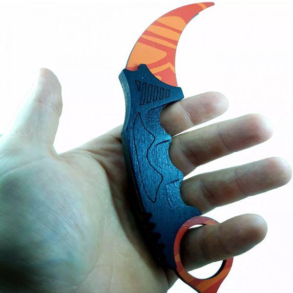 Деревянный нож керамбит CS:GO Убийство