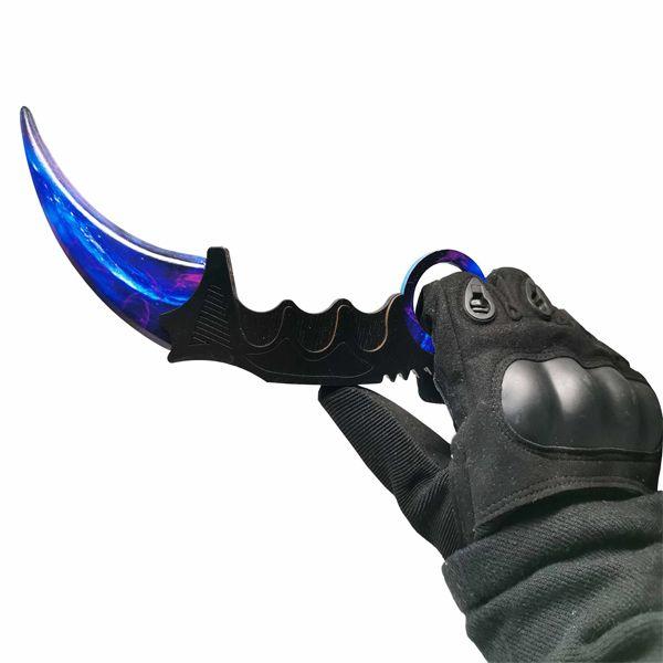 Деревянный нож керамбит CS:GO Волны сапфира