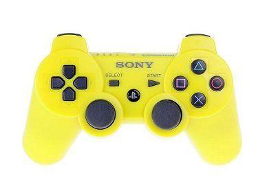 Джойстик геймпад dualshock 3 (жёлтый) PS3