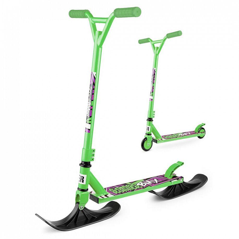 Зимний самокат на лыжах Small Rider Combo Runner BMX, Green