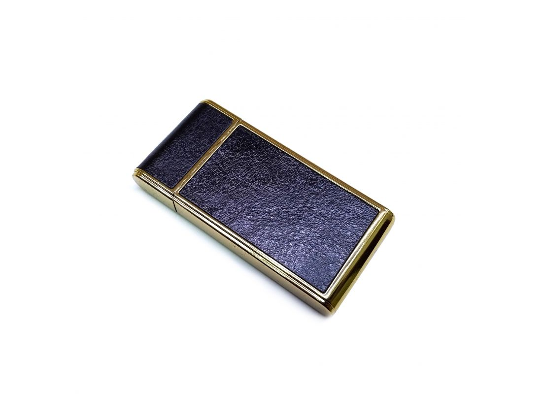 Спиральная зажигалка USB CIGNA Leather Black