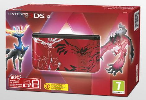 Nintendo 3DS XL HW Pokemon X Y Red Edition (NIC-2202632)