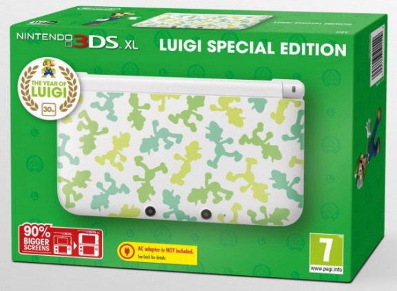 Nintendo 3DS XL HW White (NIC-2202732) Luigi Edition